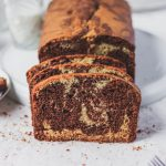 vanilla chocolate marbled loaf cake lekach