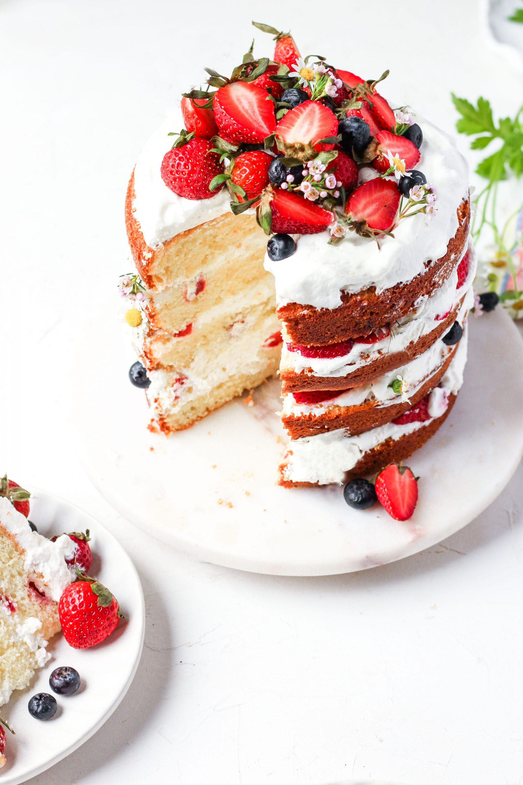 Berry Vanilla Kefir Cake, layer berry cake, six inch cake, mother's day cake